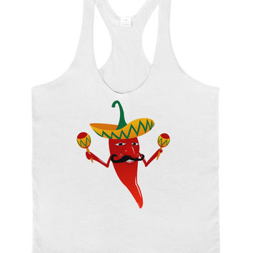 Red Hot Mexican Chili Pepper Mens String Tank Top