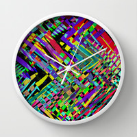 Hello Colour Wall Clock by Glanoramay