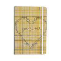 "Robin Dickinson ""You & Me"" Yellow Everything Notebook"