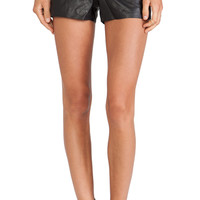 BB Dakota Thekla Leather Shorts in Black