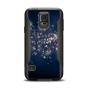The Dark & Glowing Sparks Samsung Galaxy S5 Otterbox Commuter Case Skin Set