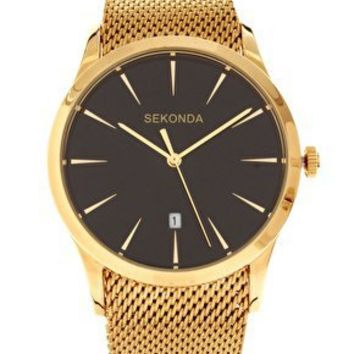 Sekonda | Sekonda Gold Watch with Mesh Strap at ASOS