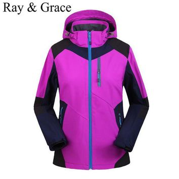 ONETOW Women's Hiking Jackets Softshell Jacket Women Outdoor Sports Waterproof Windproof Camping Trekking Mountain Clothing Veste Homme