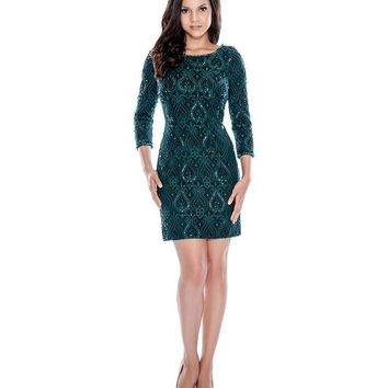 Decode 1.8 - Sequined Lace Bateau Neck Dress 183255