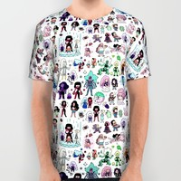 Cute Steven Universe Doodle All Over Print Shirt by KiraKiraDoodles