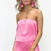 Call Your Bluff Hot Pink Romper