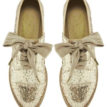 F-Troupe Glitter Lace Up Shoes at asos.com