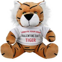 Create Your Own Valentine Tiger: One More Shot Customized Party Gifts