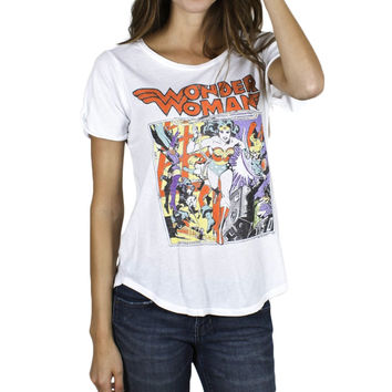 Wonder Woman - Action Scene Juniors T-Shirt