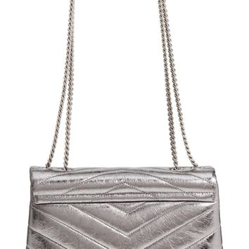 Saint Laurent Small Lou Lou Metallic Leather Shoulder Bag | Nordstrom