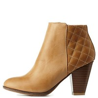 BAMBOO QUILTED CHUNKY HEEL BOOTIES
