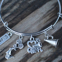 Cheer Coach, Cheer Coach Gift, Cheer Coach Bracelet, Cheer Coach Gifts, Cheer Coach Jewelry, Cheer Coach Bangle Bracelet, Cheer Coach Charm