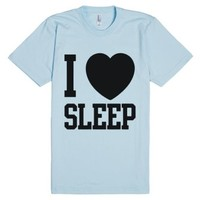 I Love Sleep-Unisex Light Blue T-Shirt