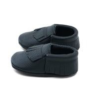 Baby Gladiator Leather Moccasins Black