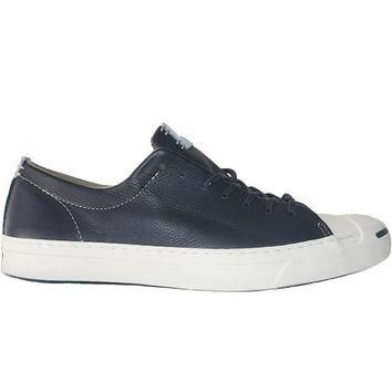 Converse Jack Purcell Jack Ox - Inked/Egret Leather Oxford Sneaker