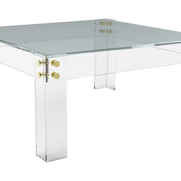 Cap Ferrat Sqaure Coffee Table, Acrylic / Lucite, Sofa Table