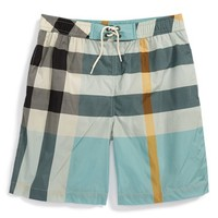 Boy's Burberry 'Mini Jeffries' Swim Shorts,