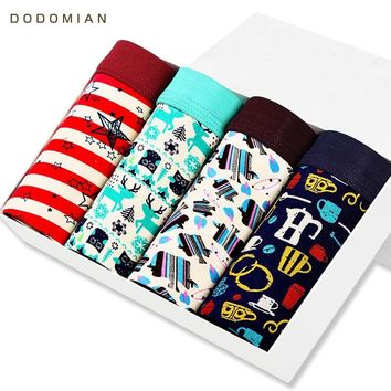 DO DO MIAN Mens Boxers Soft Modal Underwear Casual  Funny Print Male Panties 3D Crotch Underwear for Gay Men cueca Boxers L-3XL
