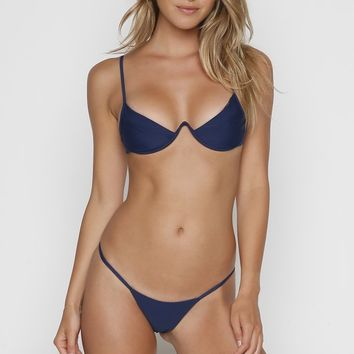 Veronika Pagan Fang Top - Navy | ISHINE365 – ISHINE365 Buy Designer Swimwear & Bikinis