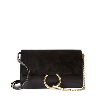 Chloé Small Faye Shoulder Bag - Suede Crossbody - ShopBAZAAR