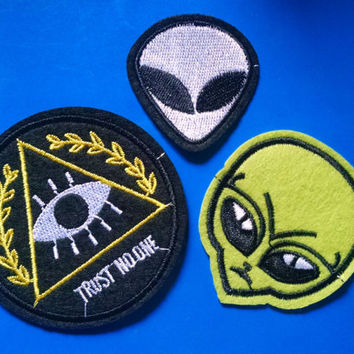 Space Grunge Patch Set of 3