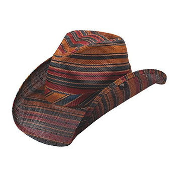 NEW PETER GRIMM LORETO MULTI-COLORED STRIPE WESTERN COWBOY HAT