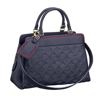Louis Vuitton Vosges MM Cross Body Handle Handbag Marine Article: M43738 Made in France