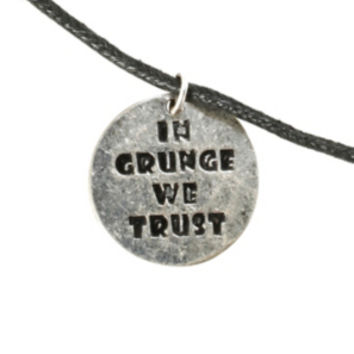 LOVEsick In Grunge We Trust Cord Necklace