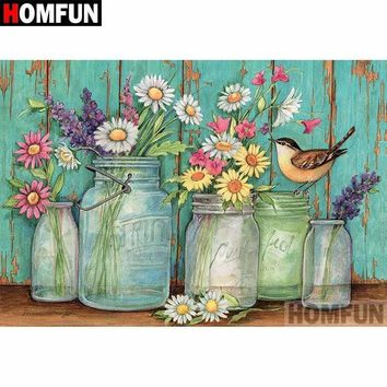 5D Diamond Painting Jars of Flowers Kit