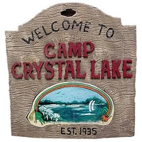 Friday the 13th Camp Crystal Lake Sign - Rubies - Horror: Friday the 13th - Prop Replicas at Entertainment Earth