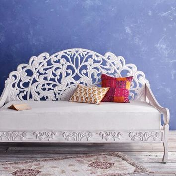 Whitewash Carved Zarah Daybed