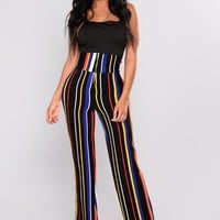 Helene Stripe Pants - Black/ Multi