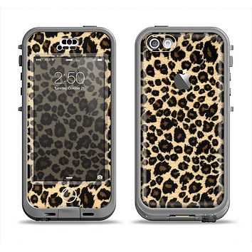 The Small Vector Cheetah Animal Print Apple iPhone 5c LifeProof Nuud Case Skin Set
