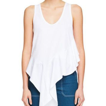 Chloe Sleeveless Asymmetric-Hem Jersey Top and Matching Items