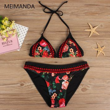 Meimanda  Bathing Suit Women Crochet Bikini Se