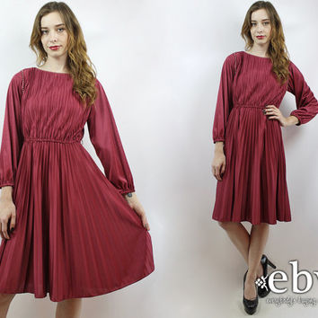 Vintage 70s Merlot Disco Dress XS S Prom Dress Hippie Dress Hippy Dress 70s Dress Merlot Dress Wine Dress 1970s Dress Party Dress