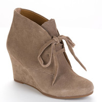 DV by Dolce Vita Suede Wedge Ankle Booties Shoes PELLIE at BareNecessities.com