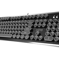 Azio Mk Retro USB Typewriter Inspired Mechanical Keyboard (Blue Switch) MK-RETRO-01