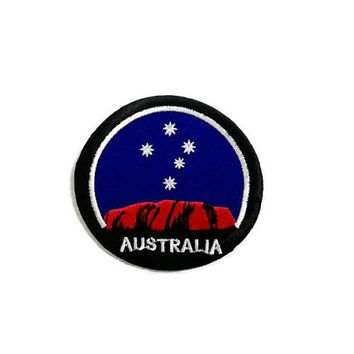 Australia Blue Patch New Sew / Iron On Patch Embroidered Applique Size 8.1cm.x7.6cm.