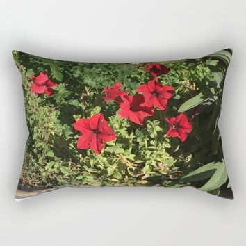 Something in Red Rectangular Pillow by Jessica Ivy