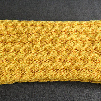 baby blanket / yellow blanket / cable knit blanket / knitted throw blanket / knit baby blanket / FREE SHIPPING