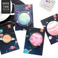 30 Sheets/pack Japanese Stationery Travel Planet Creative Bookmarks Stickers Post it  Memo Pad Sticky Notes Cute Stationery