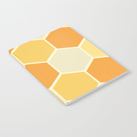 Yellow Honeycomb Notebook by spaceandlines