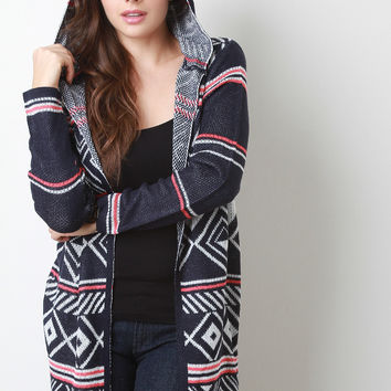 Hooded Fair Isle Cardigan
