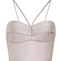 Light Grey Quilted Silk Top by Ruban for Preorder on Moda Operandi