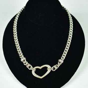 Brighton Necklace Choker Urban Heart - Reversible - Crystals - Retired