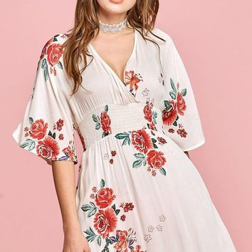In Bloom Kimono Maxi Dress