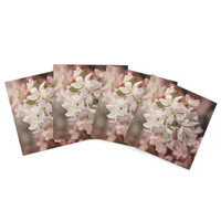 "Angie Turner ""Apple Blossoms"" Outdoor Placemat (Set of 4) - Outlet Item"