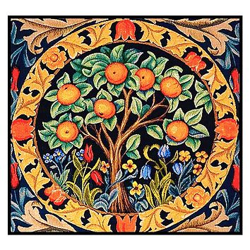 Orange Tree Detail Design by William Morris Counted Cross Stitch Pattern