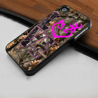 Love Browning Deer Camo - Hard Case Print for iPhone 4 / 4s case - iPhone 5 case - Black or White (Option Please)